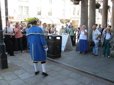 the Town crier welcoming our guests